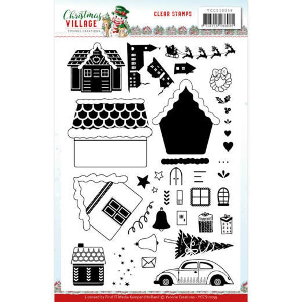 Christmas Village - Stempel / Clearstamp