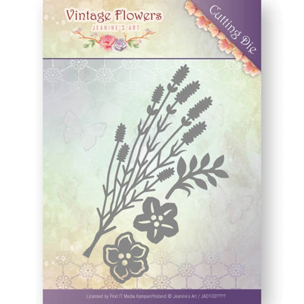 Vintage Foliage - Vintage Flowers Collection - Stanzschablone
