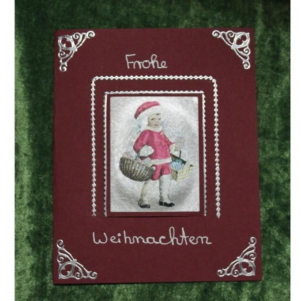 Grusskarte zum Weihnachtsfest - rote Kartonage