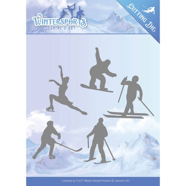 Winter Sporting - Wintersports - Stanzschablone