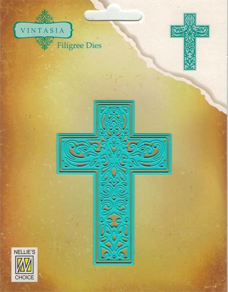 Cross / Kreuz Vintasia filigree Dies Collection von Nellie´s Choice (VIND065)