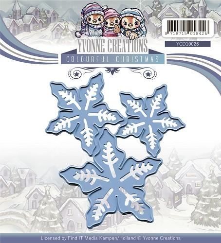 Weihnachtssternblüten - Stanzschablone von Yvonne Creations