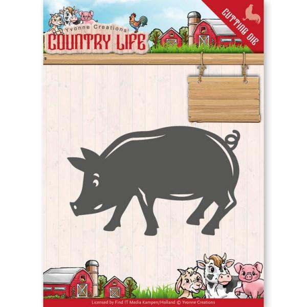 Schwein / Pig - Country Life - Stanzschablone
