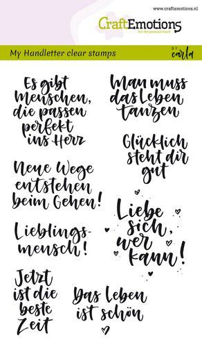 Handletter - Quotes - Clear Stamp - Stempelplatte von Craft Emotions (130501/1866)