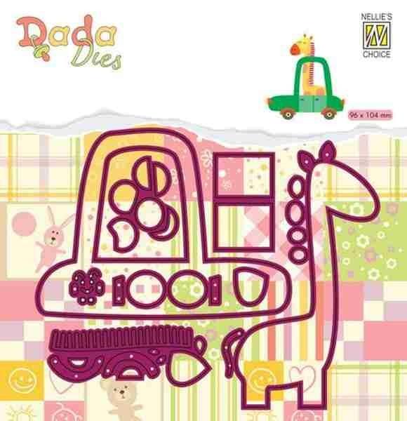 Giraffe in Auto - DADA Baby Dies Collection von Nellie´s Choice (DDD025)
