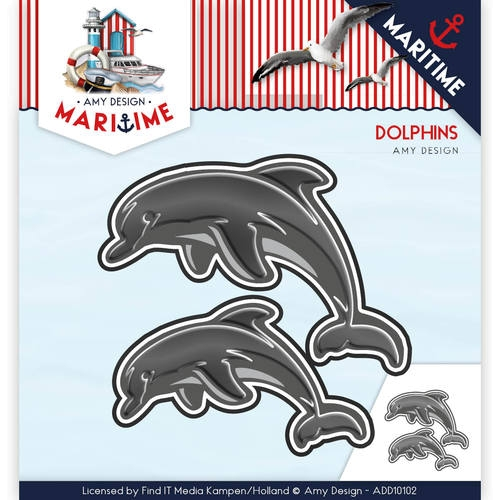 Delfine - Maritime Collection - Stanzschablone