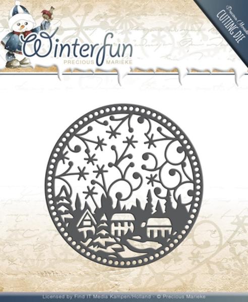 Ornament - Winterfun - Stanzschablone