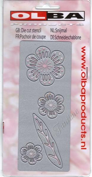 Blüten & Blätter - Stanzschablone