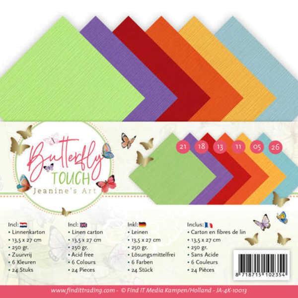 4K - Leinenpapier - Butterfly Touch