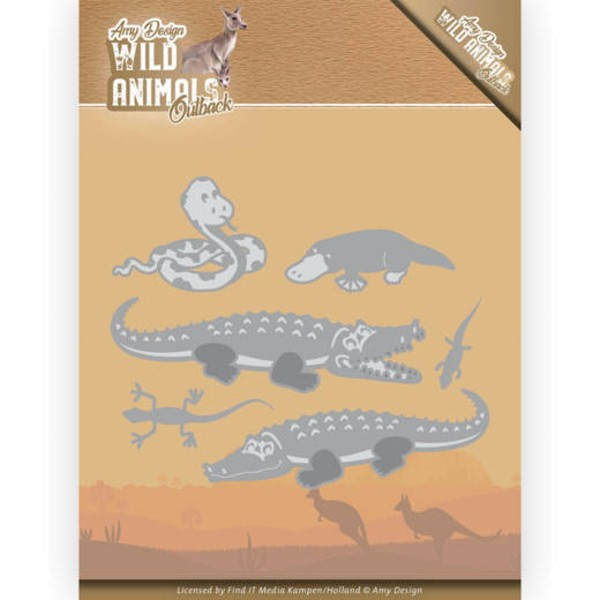 Crocodile - Wild Animals Outback - Stanzschablone