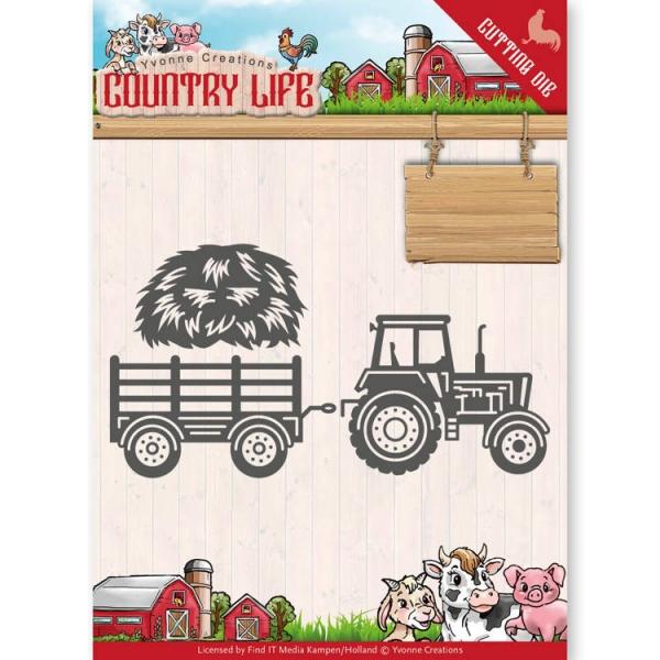 Traktor - Country Life - Stanzschablone