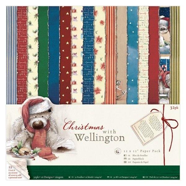 """Wellington Christmas 12"""" x 12"""" - Motivpapier-Set"""
