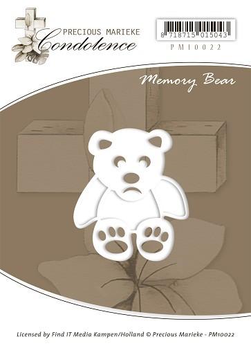 Trauriger Bär (Memory Bear) - Stanz- und Prägeschablone