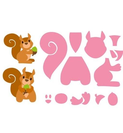 Eline´s Eichhörnchen - Stanzschablone