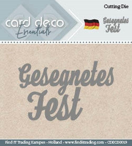 Gesegnetes Fest - Textschablone - Stanzschablone
