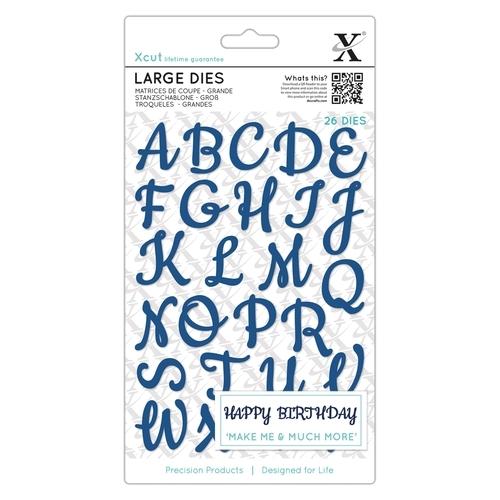 Stanzschablonen Groß (26Stk) Alphabet Handschrift Großbuchstaben