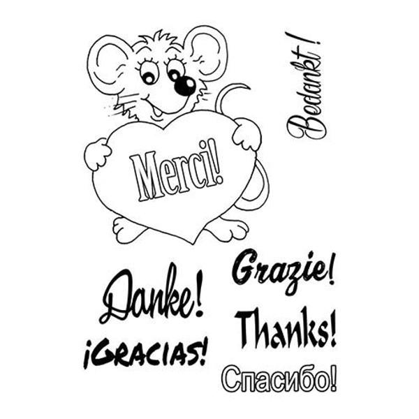 Danke! Merci! Thanks! - Stempel - Clearstamp