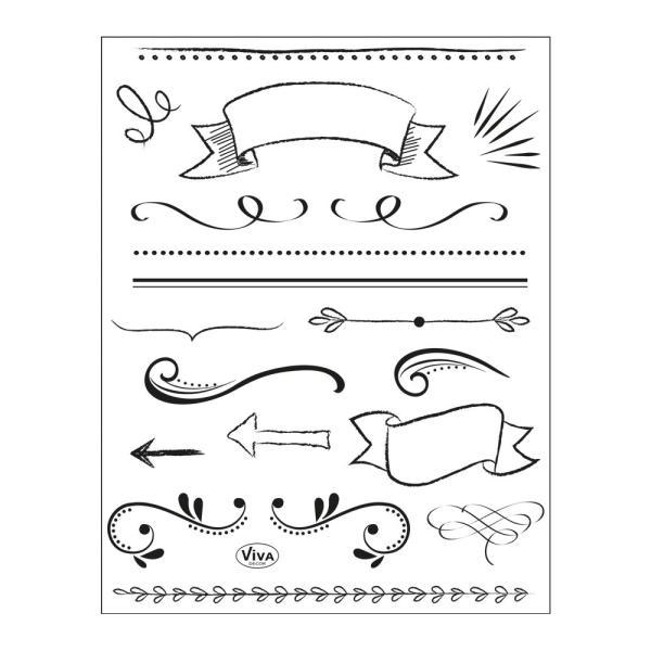 Lettering Elemente - Stempel - Clearstamp