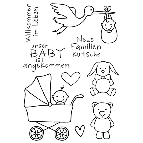 Baby - Stempel - Clearstamp