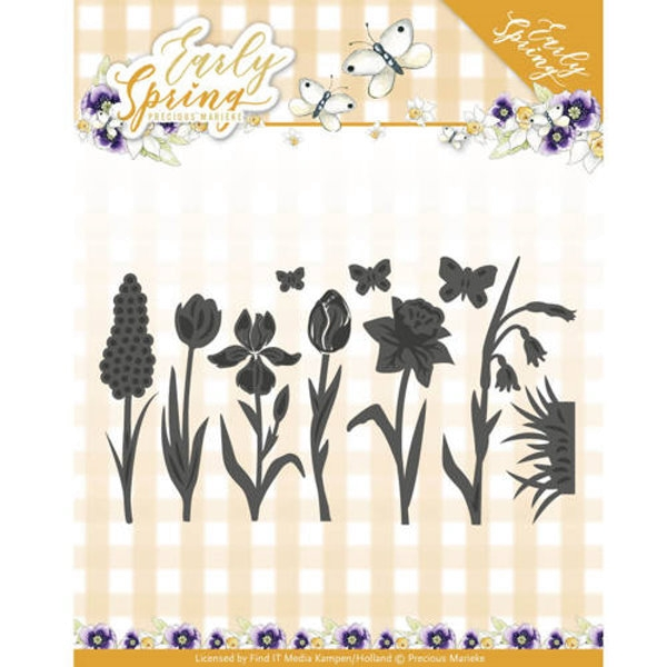 Spring Flowers and Butterflies Dies - Stanzschablone
