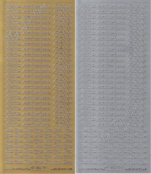 Zum bestandenen Abitur / Zur bestandenen Prüfung in Gold oder Silber - Sticker