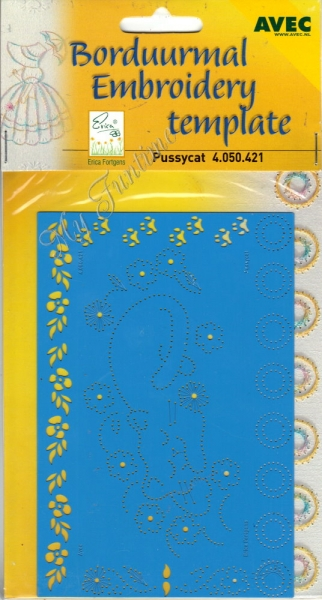 Pussycat - Prägeschablone / Embossing-Folder