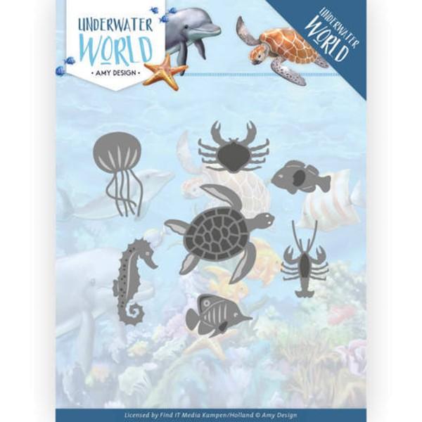 Ocean Animals - Underwater World - Stanzschablone