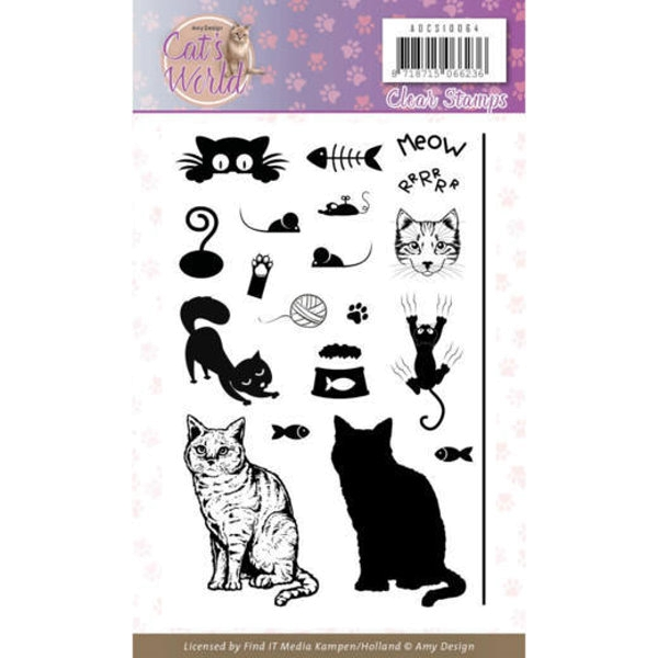 Cats World - Clearstamp / Stempel