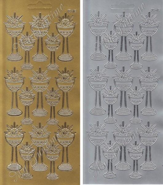 Sticker - Kelche in Gold oder Silber - Format 10x23cm