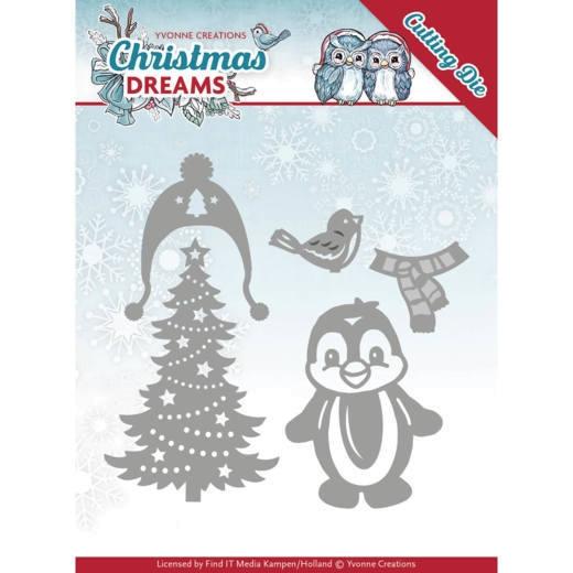 Christmas Penguin / Pinguin - Stanzschablone