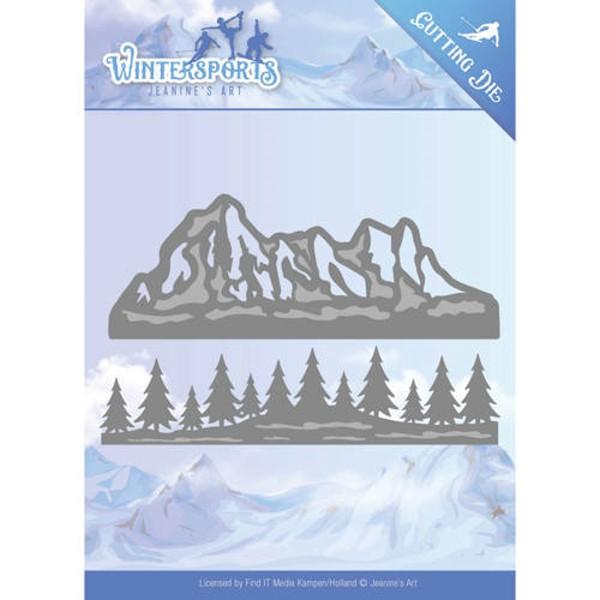Mountain Border - Wintersports - Stanzschablone