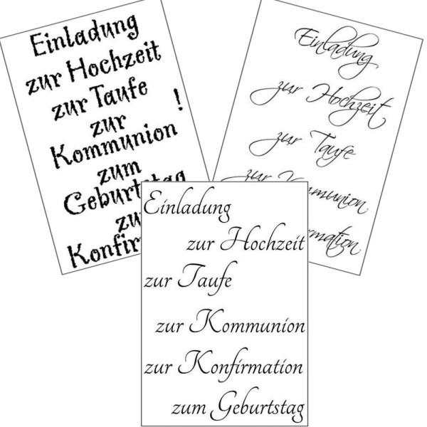 Einladung - Stempel - Clearstamp