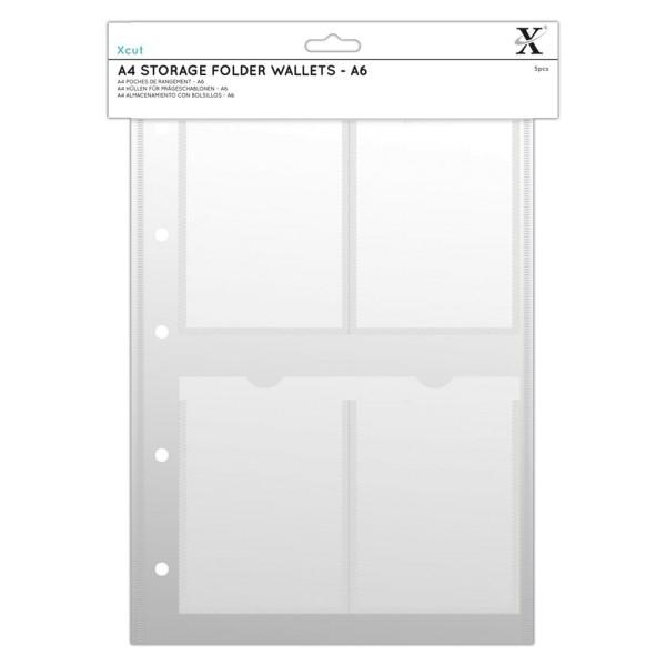 Stempelhüllen DIN A4 - 4x A6 (5 Stück) von X-CUT (XCU 245104)