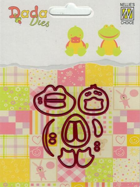 Duck & Frog / Ente & Frosch - DADA Dies Animals von Nellie´s Choice (DDD010)