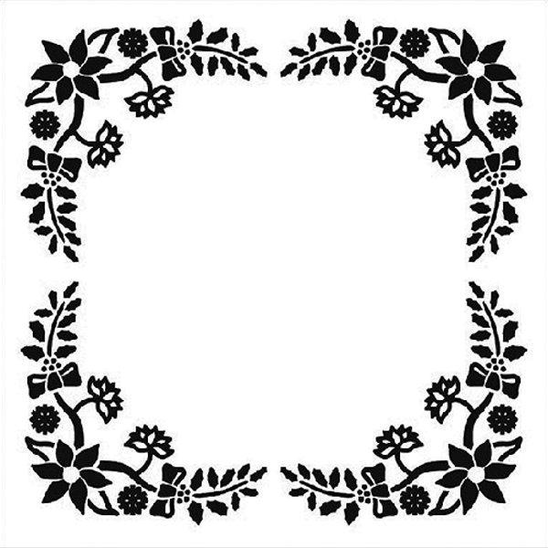 Christmas Frame - Prägeschablone / Embossing Folder