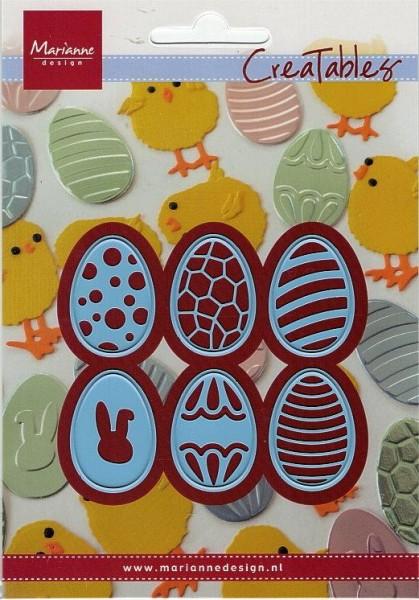 Ostereier / easter eggs - Stanzschablone