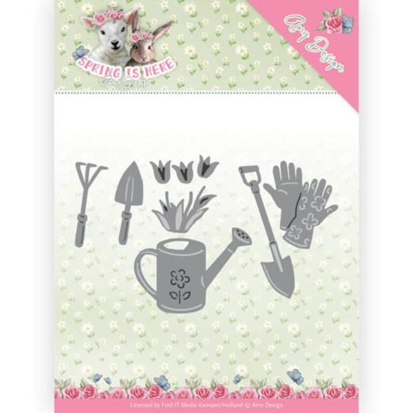 Garden Tools / Gartenwerkzeuge - Stanzschablone