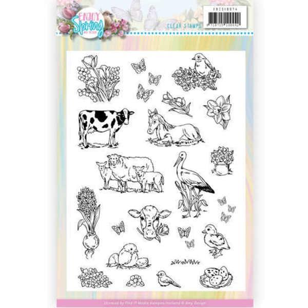 Enjoy Spring - Clearstamp / Stempel von Amy Design (ADCS10074)