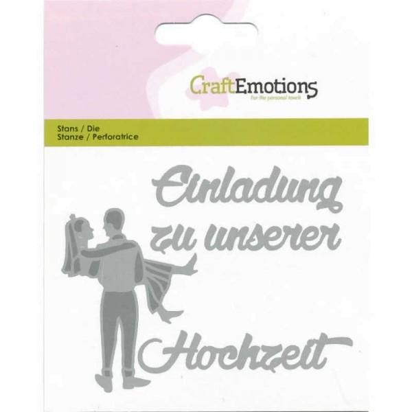 Einladung Hochzeit - Textschablone von CraftEmotions (115633/0411)