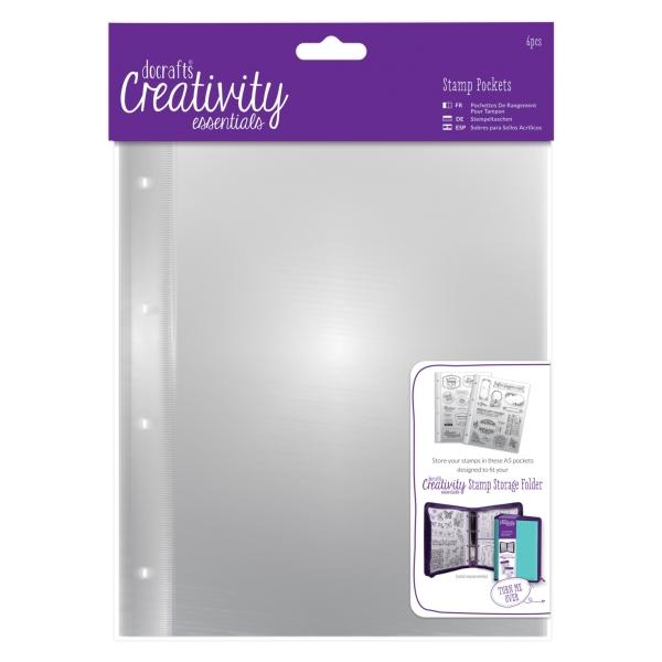 Stamp Storage Pockets Essentials Dce Creativity A5 Stempeltaschen 6 Stück