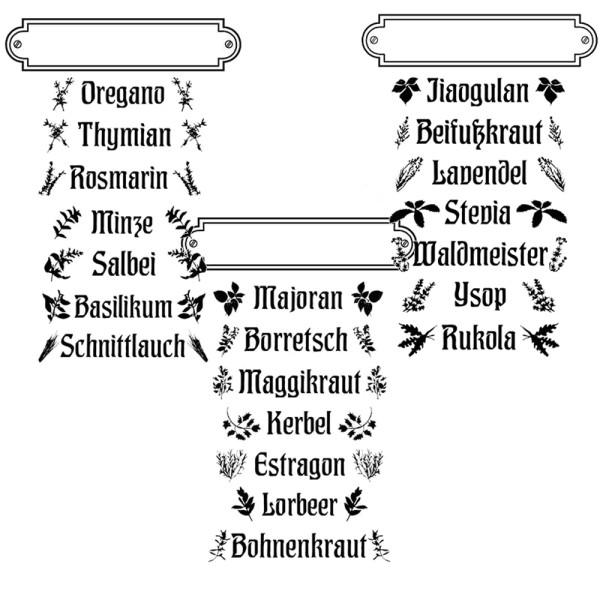 Kräuter- / Gewürzschilder - Stempel - Clearstamp