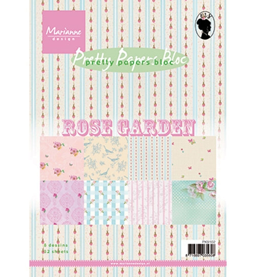 Motivpapier-Set / Scrapbook - Rose Garden