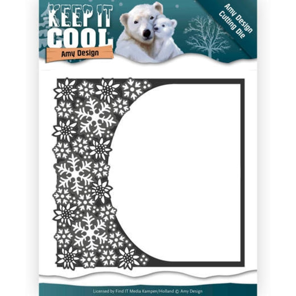 Cool Rounded Frame - Keep it Cool - Stanzschablone