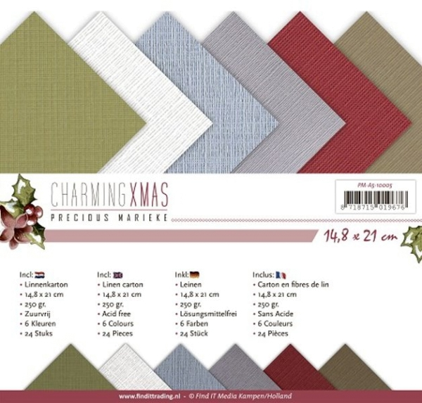 Charming Xmas DIN A5 - Precious Marieke - Leinenpapier-Set