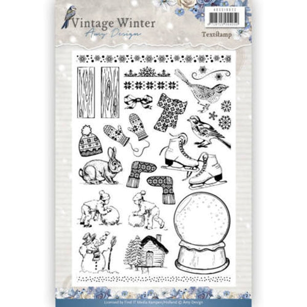 Vintage Winter - Clearstamp / Stempel