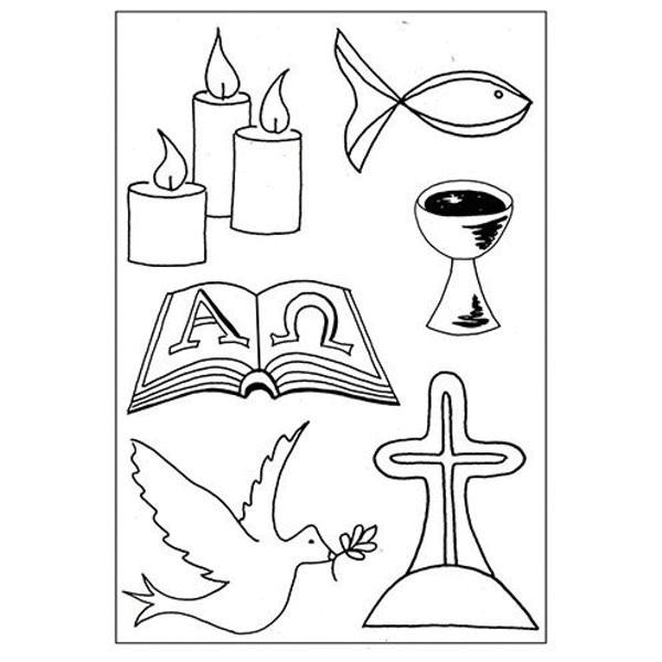 Christliche Symbole - Stempel - Clearstamp
