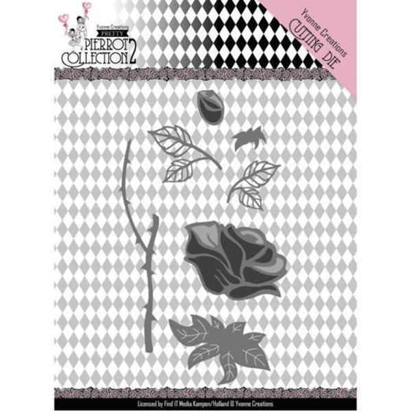 Rose (Bausatz) - Stanzschablone