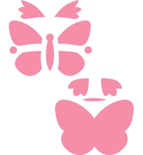 Schmetterlinge - Stanz- und Prägeschablonen