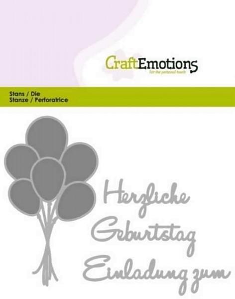 Herzlichen Geburtstag - Textschablone von CraftEmotions (115633/0412)