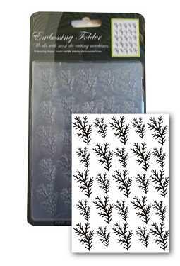 Pine /Kiefernzweige 10,5x15 cm - Prägeschablone / Embossing Folder